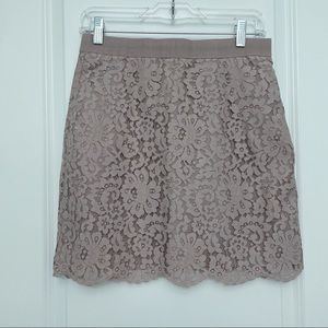 Joe Fresh Lace Lilac Purple Pencil Skirt Size 4